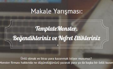 Template Monster Makale Yarışması